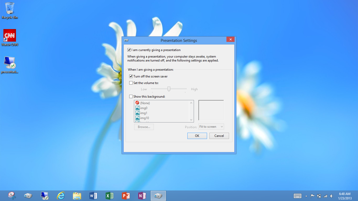 windows surface rt how to stop screem from sleeping