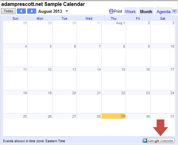 how to make google calander shorter